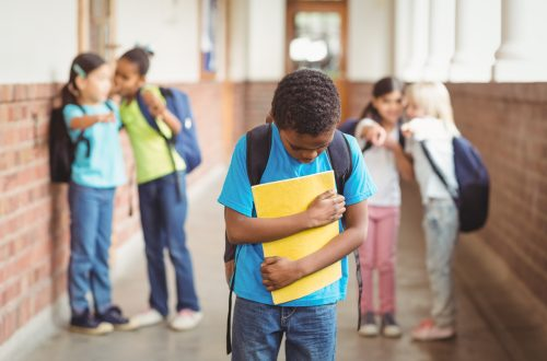 Pupil being bullied
